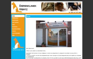 Website Dierenkliniek Wertz