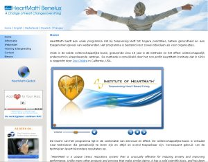 website Heartmath BeNeLux