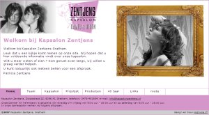Website Kapsalon Zentjens