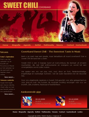 Website Coverband Sweet Chili