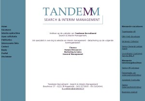 Website Tandemm Recruitment